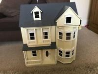 Beautiful dolls house with furniture and figures