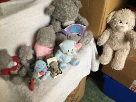 job lot of blue nose, tatty bears all in good condition