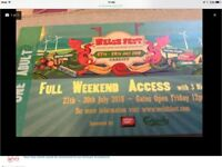WELSH FEST - 2 weekend tickets + camping - Face Value £90