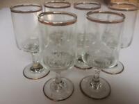 6 Sherry glasses