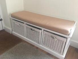 BEAUTIFUL 3 DRAW AND SEAT FOR SHOES OR STORAGE