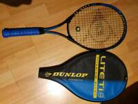Dunlop tennis racket including cover