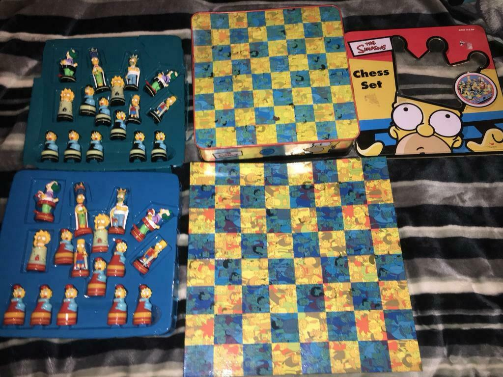 Collectable 90s 3d Simpsons Chess Set In Sunderland Tyne And