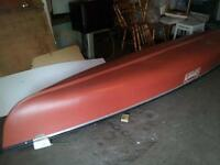 15.5 foot red coleman canoe 800.00, 4 life jackets and paddles