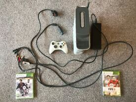 Xbox 360 + controller + accessories + games