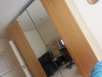 2 x full length lard mirrors wardrobes