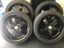 18 inch BK alloys in black