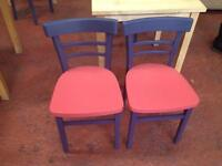 Upcycled wooden chairs