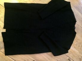 COS black boiled wool cardigan
