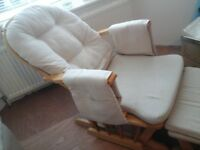 *FREE DELIVERY* Nursery rocking chair and Footstool