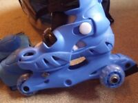 Kids Roller Boots, complete set with with protective pads