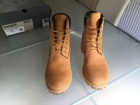 Mens Timberland 6 Inch Boot Premium Nubuck Leather Suede UK 10