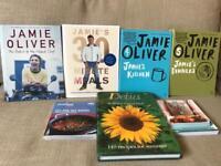 Recipe cook books x7. Jamie Oliver, Delia Smith. Jamie's 30 minute meals