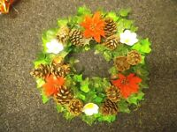 Christmas Wreaths, individually hand made to the highest, bespoke standard, from £5 to £25 each.