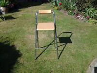 Free Single steel and wood bar stool