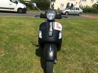 PIAGGIO VESPA SUPER GTS 125cc ie Matt Black 2014 STUNNING HPI CLEAR!!