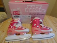Girls White and pink No Fear Ice Skates boxed