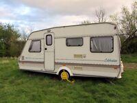 1993 ABI Celebration 450-CT 4 Berth Compact Caravan: Good/Fair condition for age.