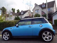 (2005) MINI COOPER S Chilli ELECTRIC BLUE GENUINE 60K MILES, FULL MINI HISTORY, MASSIVE FACTORY SPEC