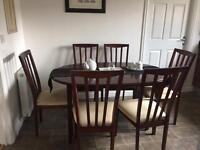 Extending Dinning table & 6 chairs & sideboard