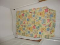 Duvet cover - Kids Single duvet cover, 1 pillowcase with 'Teddies' pattern on it VGC £2