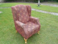 Comfy Rich Wingback Armchair