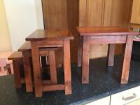 Myakka solid wood nest of tables and side table