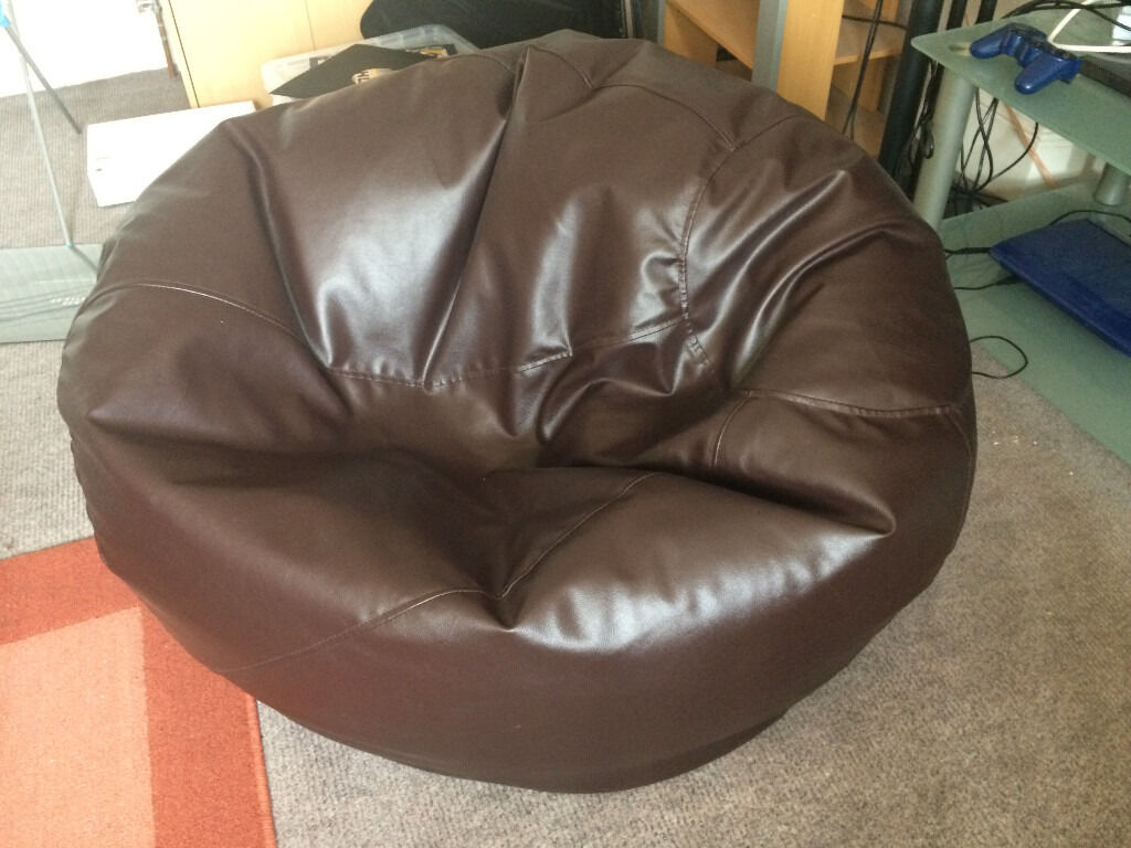 Bean Bag Bazaar XXL bean bag  MAN Size  faux leather brown  0b9829165711f