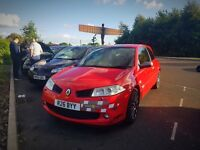 Renault Megane r26 with private reg R26BYY
