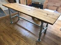 Scaffold Desk/Table - Solid Antique Top