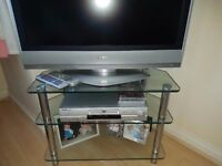 TV and TV stand and DVD player - excellent condition
