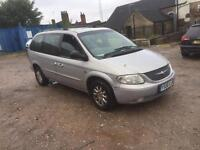 2001 Chrysler grand voyager crd 2.5 diesel lx top spec leather £495 7 seater