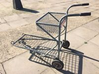 Garden Centre / Nursery Flat Bed Trolley with top shelf