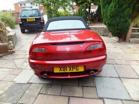 For Sale MG F Year 2000 12 Months MOT 61000 miles Very good condition Recent new Hood fitted