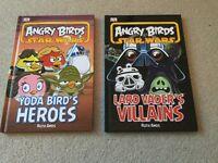 2 Angry Birds Star Wars hardback book - Lard Vader Villians & Yoda Birds Heroes