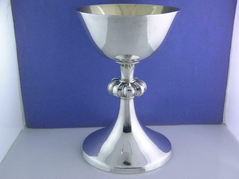 English Sterling Silver Chalice WAKELY & WHEELER London c1954 ~no mono ~15.31ozt