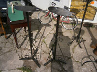 PAIR OF WROUGHT IRON PLANT STANDS IN YEOVIL