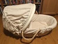 Mammas and Papas cream Moses basket