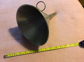 Stainless Steel Funnel Commercial Industrial Vintage