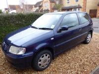 VW Polo Match 1.4 3 door in blue 12 months MOT 115,00 miles