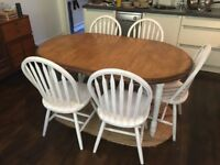Solid Wood 6 Seater Dining Table and 6 Chairs