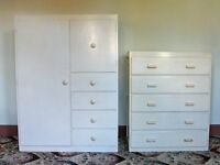 1950s CABINET AND CHEST OF DRAWERS BY LIDEN, VINTAGE CLASSIC FURNITURE