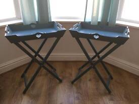 2 Vintage style bedside/Side tables -foldable