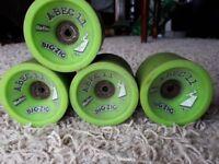 Abec 11 BigZig's 80A duro Longboard Skateboard wheels