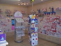 Greeting card shop fittings and stock for sale