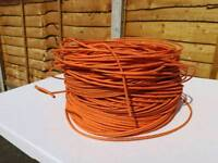 305m new unused condition orange data cable. iso-en compliantiso-en cat5e utp solid pr04