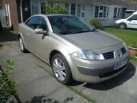 Renault Megane Cabriolet Convertible, 1.9 Diesel,Gold, 1/2 Leather, 12m MOT, 126k miles £925 ono