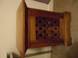 Dark Hardwood Bedside Table