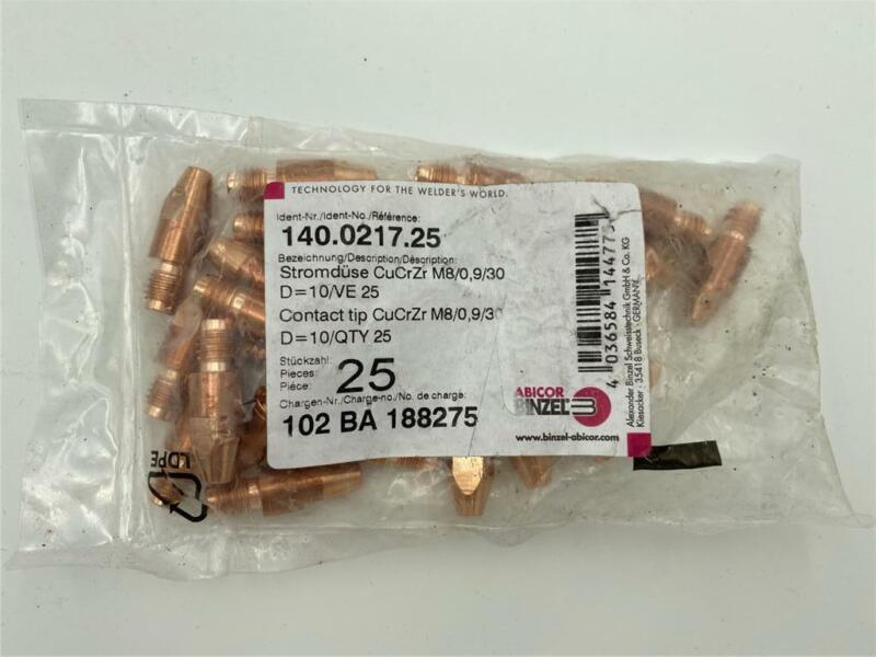 NEW 25 Pack Abicor Binzel 140.0217 Contact Tips
