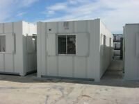 32ft x 10ft Anti Vandal Portable Cabin SITE OFFICE AND MALE & FEMALE TOILET shipping container shed